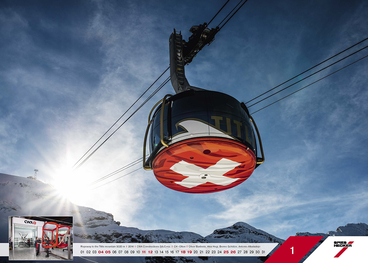 Januar - Ropeway to the Titlis mountain 3020 m l 2014 l CWA Constructions SA/Corp. l CH -Olten