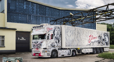 Scania R480 Truck with the look of KC colorworkx's Rolling Stones from Schmalkhalden