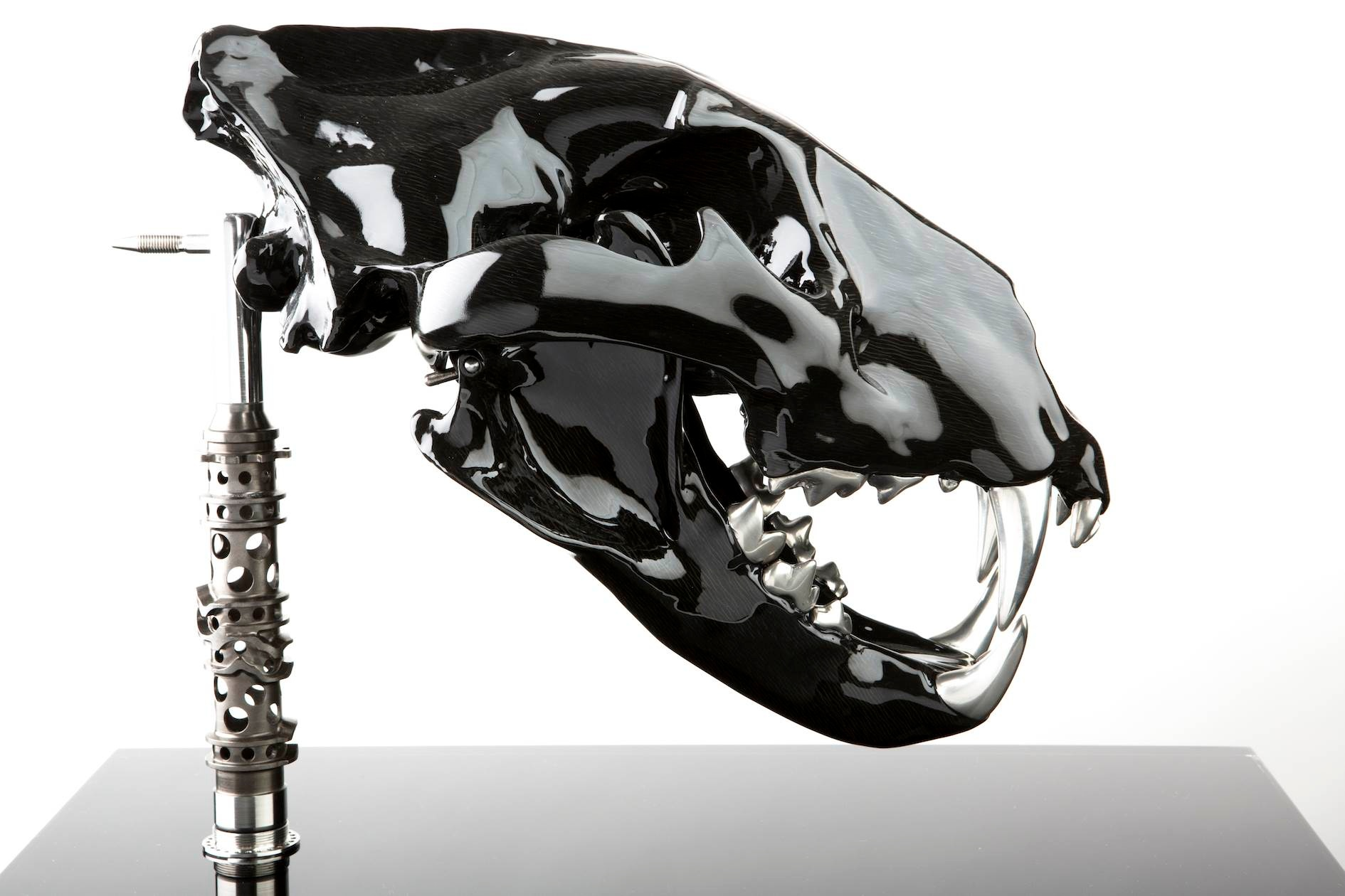 'carbon king' Dimensions: L 390 mm  W 255 mm  H 350 mm  height on stand. Weight: 8.5 kg