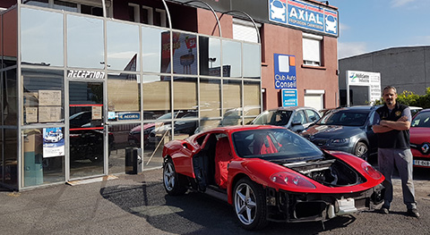The Ferrari 360 was restored to its iconic and flamboyant red