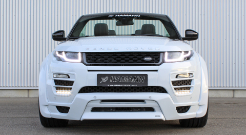 The new front design transforms the Evoque Convertible into a